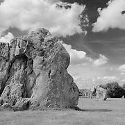 Large Neolithic Stones - Avebury, UK - Infrared Black & White