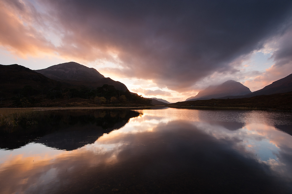 Loch Clair at dusk, Wester Ross, Scotland