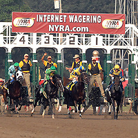 The start of the Travers Stakes on August 25, 2007