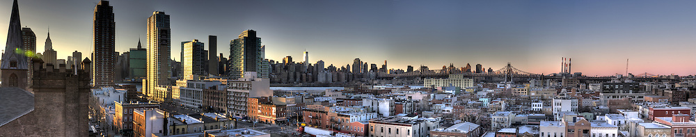 This is a shot from Long Island City looking North West toward the Manhattan skyline/
