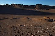 Sunset in the Valle de la Luna (Valley of the Moon) in Chile's Atacama Desert