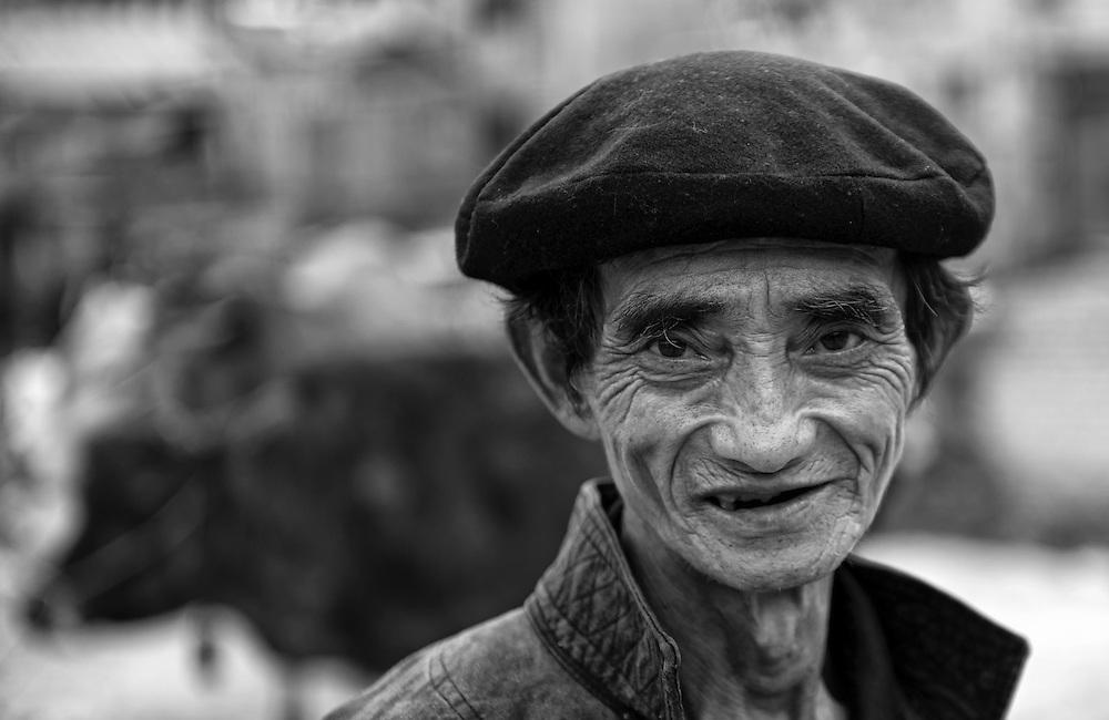 A Hmong gentleman at the Dong Van market, Vietnam.
