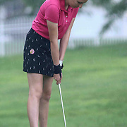 Grace Lombardi of Bear, DE, prepares to putt at the 11th hole during the girls 2015 Delaware junior championship at Chesapeake Bay Golf Club Thursday, July 03, 2015, in Rising Sun, Maryland.