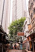 Antique stalls on Cat Street, Central, Hong Kong.