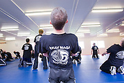The Institute of Krav Maga Scotland (IKMS) Grading with Amnon Darsa at the Scottish Police College, Tulliallan Castle, Kincardine..©2009 Michael Schofield. All Rights Reserved.