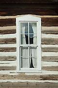 Hornbek Homestead, window, Florissant Fossil Beds, Colorado