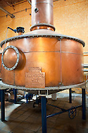 Copper still used to distill fermented agave juice, Tequila, Mexico