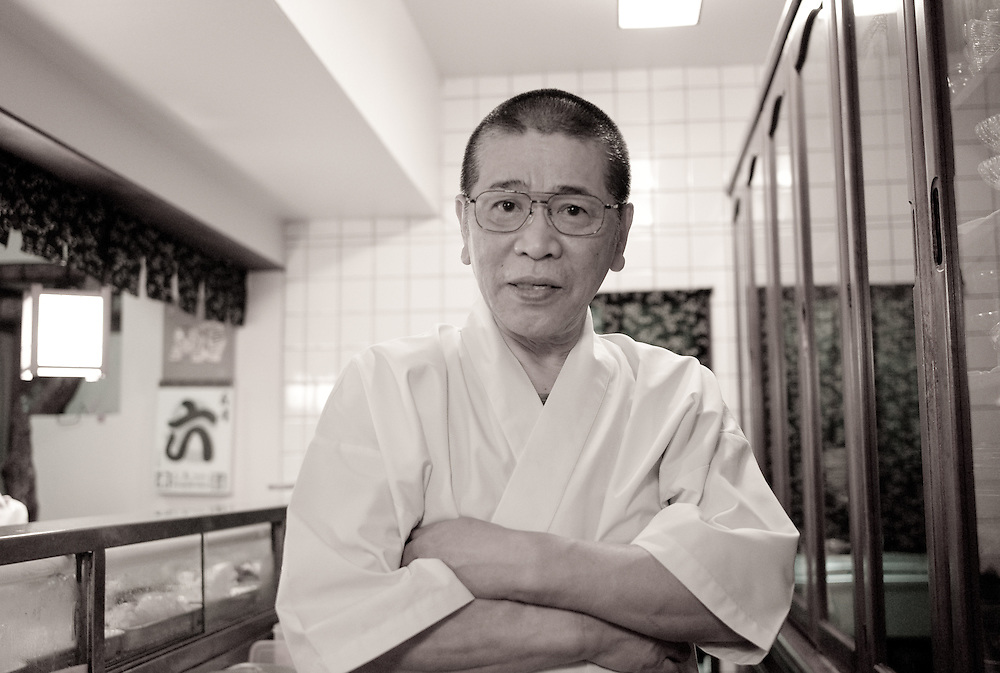 Sushi chef, owner, and #1 badass of the Wakakusa sushi restaurant in Numazu, Japan, and the man responsible for the best sushi meal I've ever had. Filefish with liver? Check. Horse mackerel? Check. Gizzard shad? Check. Octopus? Check. Roe? Check, and check. Maguro? Toro? Ebi? Check, check, and check. Domo Arigato Gozaimashita, Mr. Young Horse.
