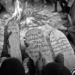 Children chant the Koran written on wooden tablets in Arabic, even though most of them do not understand what they are reading and instead have learned it through memorization. Among the things that sets the Fulani apart from most other ethnic tribes in Guinea Bissau is that they are Muslim.