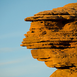 Rock Face at Devils Garden, Arches National Park, Utah, US