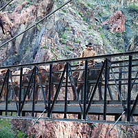 Crossing the Black Bridge over the Colorado river to the North side.