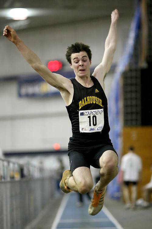 Windsor, Ontario ---13/03/09--- Anthony Bernard of  Dalhousie University competes in the Men's Long Jump Final at the CIS track and field championships in Windsor, Ontario, March 13, 2009..Sean Burges Mundo Sport Images