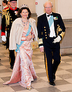 Queen Silvia of Sweden 15-4-2015 - COPENHAGEN - Queen Silvia of Sweden  And King Carl XVI Gustaf at the Christiansborg Palace for a diner  , attent the 75 th Birthday celebration of of Queen Margrethe II . COPYRIGHT ROBIN UTRECHT