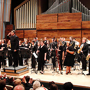 Dr. David Booth speaks to patrons as the Wind Symphony concert begins during the 13th Annual ArtsGala at Wright State University's Creative Arts Center, Saturday, March 31, 2012.  The concert was held this year in the brand new Schuster Hall.