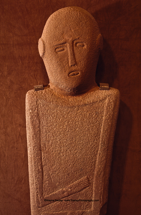 Gravestone from Hijaz, Anthropomorphic stele,  400 B.C., National Museum of Saudi Arabia, Riyadh