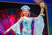 Lovingly ripped off from the classic film comedy Monty Python and the Holy Grail, Spamalot is making a triumphant return to the London West End, at the Harold Pinter Theatre. Featuring Jon Culshaw as King Arthur, Marcus Brigstock as Sir Lancelot, Bonnie Langford as The Lady of the Lake and Todd Carty as Patsy. Picture shows Bonnie Langford.