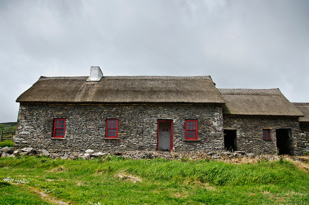 The Famine Cottage, is a museum on the Dingle peninsula that was once inhabited by an Irish family that emigrated during the Irish Potato Famine.