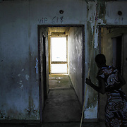 """Room numbers"" remain from the civil war when Liberians sought refuge in the abandoned hotel. Ducor Hotel, Monrovia, Liberia, 2012."