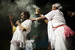 An Ethiopian group show a performance during the African Party night, at Kasarani Indoor Arena during the VII World Social Forum. Nairobi city, Kenya, Africa.