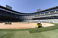 CHICAGO - OCTOBER 06:  A general view of the infield at U.S. Cellular Field as the sod is replaced during the off-season at U.S. Cellular Field in Chicago, Illinois.  (Photo by Ron Vesely)