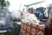 Butcher Al Phate Saad works in Juba Market in old town.