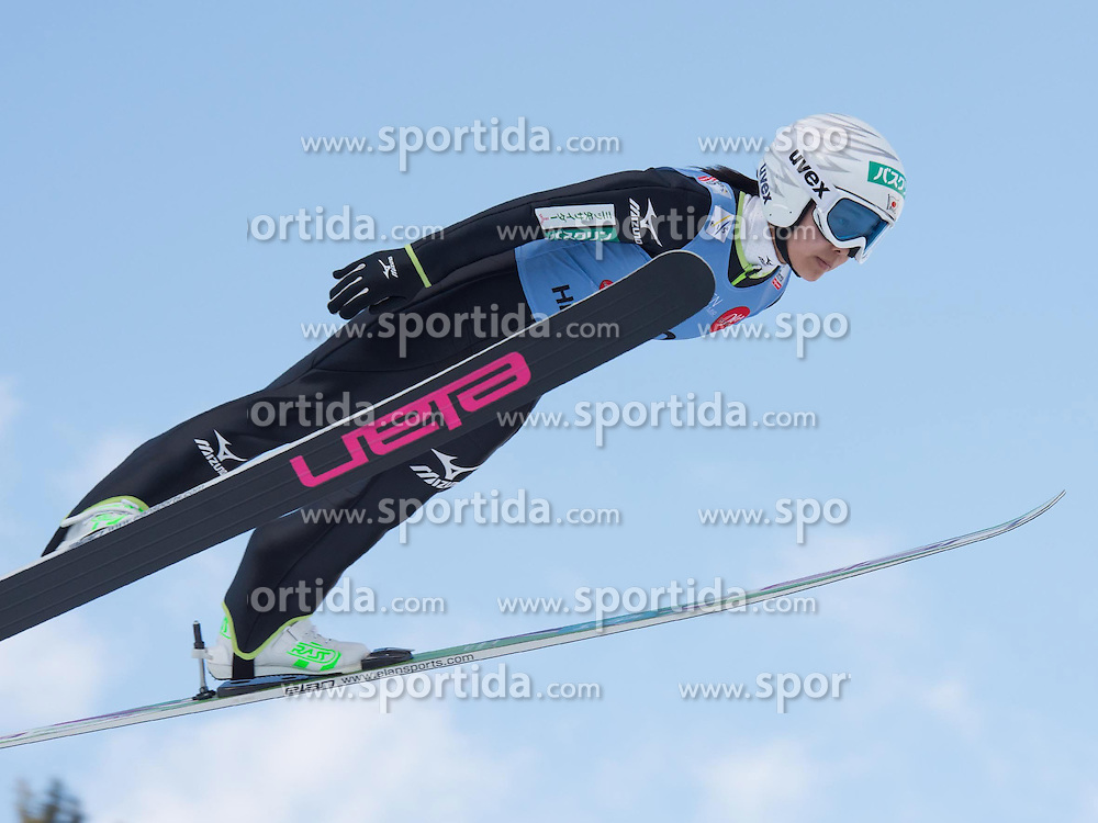 31.01.2015, Energie AG Skisprung Arena, Hinzenbach, AUT, FIS Weltcup Ski Sprung, Hinzenbach, Damen, Wettkampf im Bild Sara Takanashi (JPN) // during FIS Ski Jumping World Cup Ladies at the Energie AG Skisprung Arena, Hinzenbach, Austria on 2015/01/31. EXPA Pictures © 2015, PhotoCredit: EXPA/ Reinhard Eisenbauer