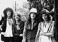 Queen 1975 Brian May, Roger Taylor, John Deacon and Freddie Mercury..© Chris Walter..