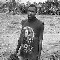 'Superhero' T-shirt fashion,  Western Province, Papua New Guinea,
