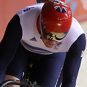 LONDON 2012 PARALYMPIC GAMES.. Pic shows Team GB cycle  racing at the Veledrome  at the London Paralympic Games,London.