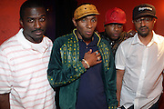 l to r: Corey Smyth, Mos Def( Black Star), Talib Kweli and Naheem Kassam at The Black Star( Mos Def & Talib Kweli) Performance presented by BlackSmith and Live N Direct held at The Nokia Theater in New York City on May 30, 2009.