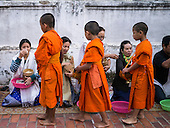 The Tak Bat in Luang Prabang - 2013