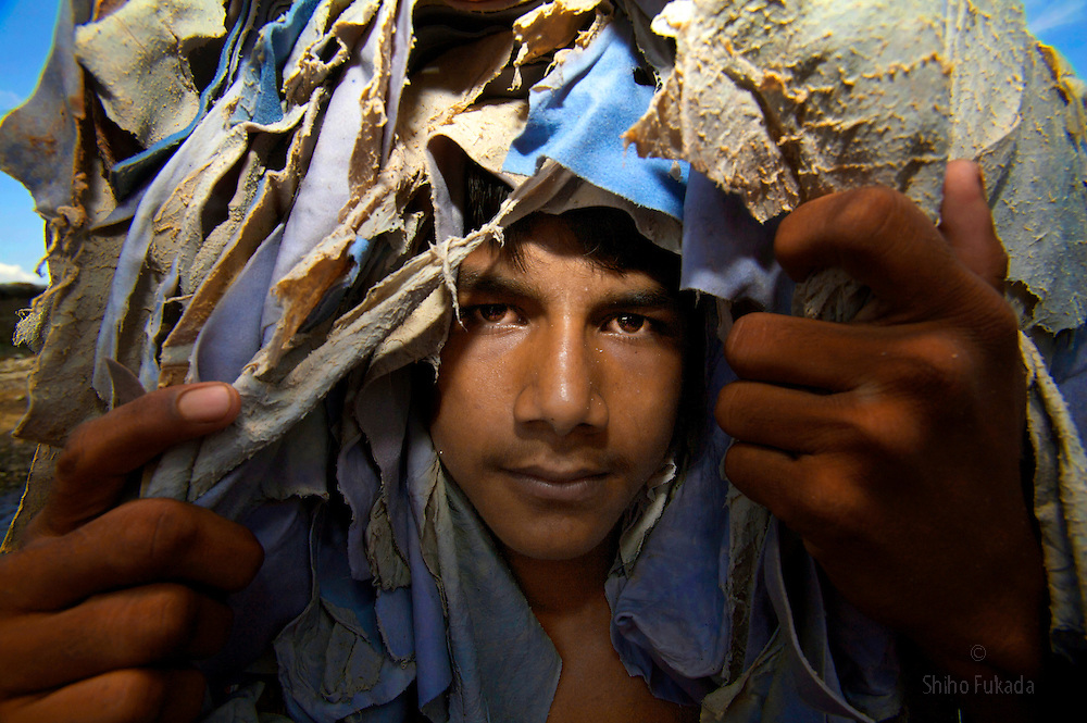 Edan, 17, works at tannery in Dhaka, Bangladesh.