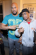 l to r: Common and DJ Dummy backstage at Metro PCS 5 Boro Tour featuring The Dream, Jasimine Sullivan and Common held at The Brooklyn Academy of Music(BAM) on March 10, 2009 in Brooklyn , NY..**Exclusive**