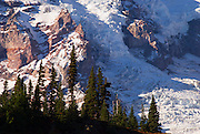 Nisqually Glacier detail from Glacier Vista, Mount Rainier National Park, Washington