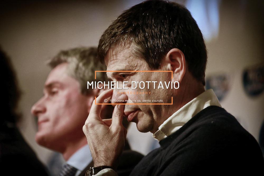 Maurizio Lupi al Teatro Carignano di Torino, per una manifestazione del Nuovo Centro Destra.