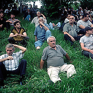 Opposition Rally by Matenadaran-Library  of Ancient Armenian Manuscripts...Levon Ter- Petrosyan who was the President of Armenia from 1991 till 1998 when he  resigned and was succeeded by Robert Kocharyan..In presidential election in 2008 he lost to Serge Sargsyan and opposition started mass protests which were brutally dispersed on march 1 with ten people reported dead. Opposition continues to protest..