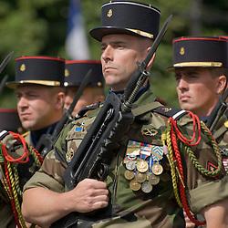 C&eacute;l&eacute;bration du 14 juillet, f&ecirc;te nationale fran&ccedil;aise, mettant &agrave; l'honneur en 2011 les territoires et les fran&ccedil;ais d'outre-mer. D&eacute;fil&eacute; militaire sur les Champs Elys&eacute;es devant le pr&eacute;sident de la R&eacute;publique.<br /> juillet 2011 / Paris (75) / FRANCE<br /> Cliquez ci-dessous pour voir le reportage complet (149 photos) en acc&egrave;s r&eacute;serv&eacute;<br /> http://sandrachenugodefroy.photoshelter.com/gallery/2011-07-Defile-militaire-du-14-juillet-2011-Complet/G0000BAMVo2NnAb0/C0000yuz5WpdBLSQ