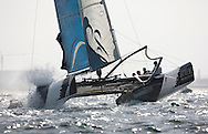 Extreme Sailing Series 2011. Leg 1. Muscat. Oman.The Wave Muscat during a practice day