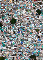 A graveyard in Guatemala from the air