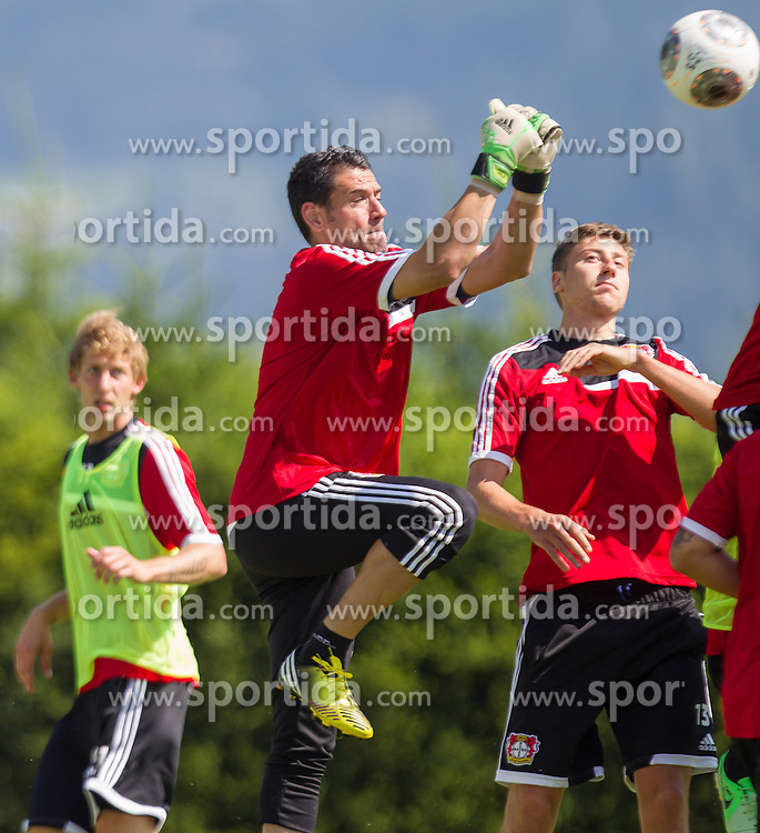 17.07.2013, Alois Latini Stadion, Zell am See, AUT, Bayer 04 Leverkusen Trainingslager, im Bild Stefan Kiessling, (Bayer 04 Leverkusen), Palop, (Bayer 04 Leverkusen) und Jens Hegeler, (Bayer 04 Leverkusen) // during a Trainingssession of the German Bundesliga Club Bayer 04 Leverkusen at the Alois Latini Stadium, Zell am See, Austria on 2013/07/17. EXPA Pictures © 2013, PhotoCredit: EXPA/ Juergen Feichter