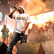 WASHINGTON, DC - August 17th, 2013 -  Rapper A$AP Ferg crowd performs at the 2013 Trillectro Festival at the Half Street Fairgrounds in Washington, D.C.  (Photo by Kyle Gustafson / For The Washington Post)