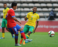 CAPE TOWN, SOUTH AFRICA - Sunday 27 September 2015: Nelson Maluleke, captain, of South Africa during the U17 International friendly soccer match between South Africa v Chile at Athlete Stadium. (Photo by Roger Sedres/ImageSA)