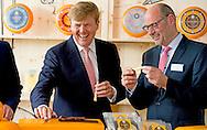 8-7-2015 - HEERENVEEN - Koning Willem Alexander opent woensdagmiddag 8 juli 2015 de kaasmakerij van Royal A-ware en de ingredi&euml;ntenfabriek van Fonterra in Heerenveen .  COPYRIGHT ROBIN UTRECHT<br /> 8-7-2015 - HEERENVEEN - King Willem Alexander opens Wednesday July 8, 2015 the cheese from Royal A-ware and the ingredients of Fonterra factory in Heerenveen. COPYRIGHT ROBIN UTRECHT