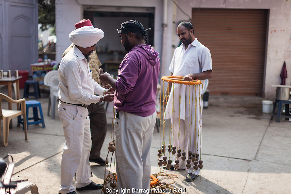 Gatka is a weapon-based Indian martial art associated with the Punjab state and identified with Panjabi Sikh culture. The word gatka properly refers to the wooden sticks which were used for sparring. The various other weapons are taught in the ritual aspect of the art. These are demonstrated in preset routines or performed as a sword dance during Sikh festivals.