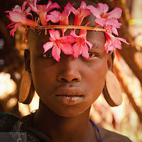 A Mursi Girl in Ethiopia's Omo Valley.