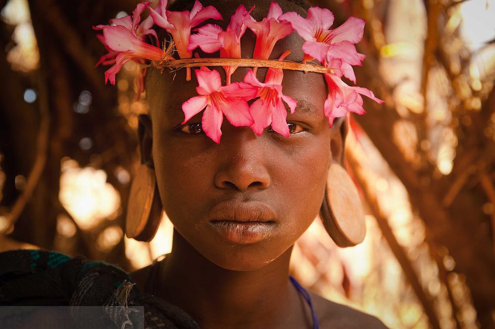 A Mursi Girl in Ethiopia's Omo Valley.