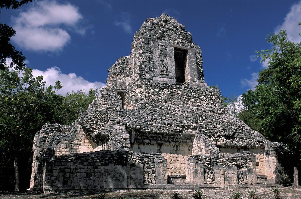 At Zona Arquelogica de Chicanna, Quintana Roo, Mexico