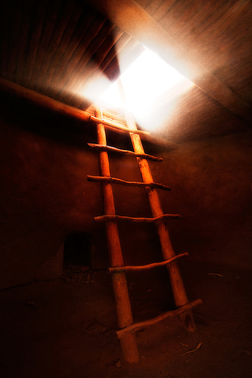 Kiva and ladder. Bandelier National Monument, New Mexico.
