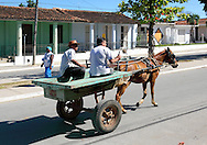 Horse and cart in San Luis, Pinar del Rio, Cuba.