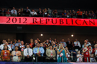 speaks at the 2012 Republican National Convention at the Tampa Bay Times Forum in Tampa on August 30, 2012.   UPI/Matthew Healey